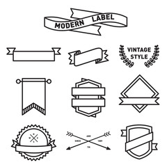 set of Label and Badge Icon Vector Design
