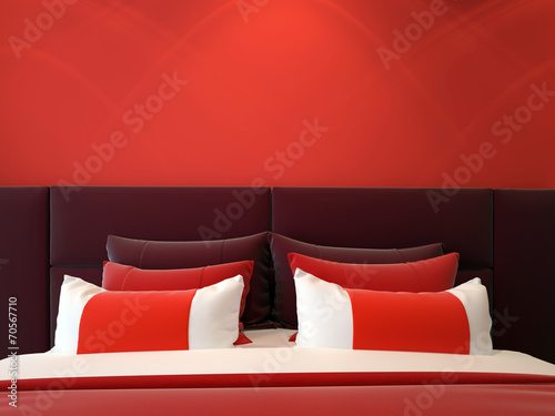 modern double bedroom - 70567710