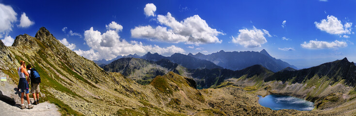 Beautiful view from the pass Zawrat to Świnica, Tatra
