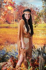 Fun-Loving Indian Maiden