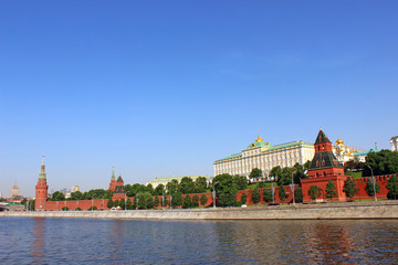 Grand Kremlin Palace in Moscow on a sunny day