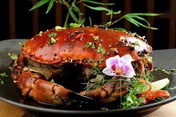 Pepper sauce crab (Singaporean recipe)