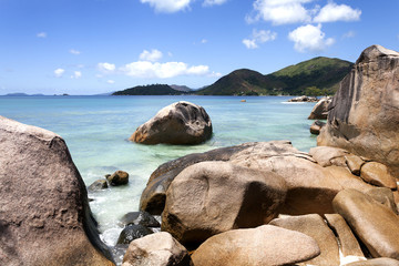 beach in Seychelles islands