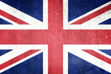 Flag of the United Kingdom. Grungy effect.