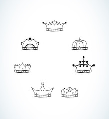set of seven crowns