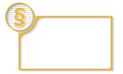 yellow frame for any text with paragraph