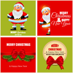 Merry X-mas and Happy New Year postcards