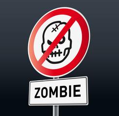 Schild Zombie Verboten