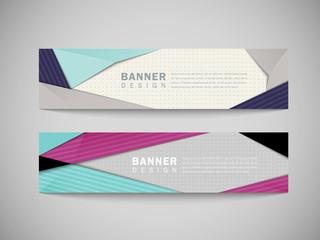 modern abstract banner template set