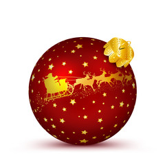 Weihnachtskugel, Kugel, 3D, Ball, Sphere, Christmas, rot, Deko