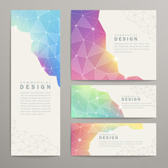 triangle pattern banner template