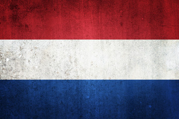 National flag of Netherlands. Grungy effect.