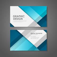 creative business card template in blue