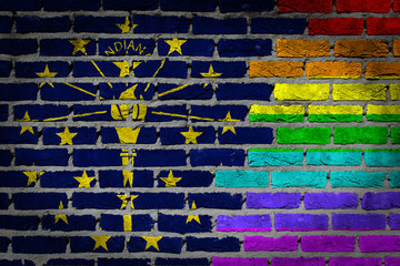 Dark brick wall - LGBT rights - Indiana