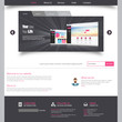 Template for website, eps10 vector