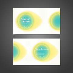 watercolor style business card template