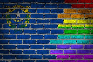 Dark brick wall - LGBT rights - Nevada