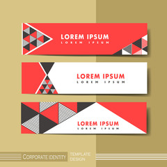 abstract modern geometric advertising banner