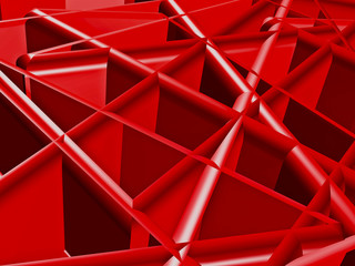 Structural abstract in red