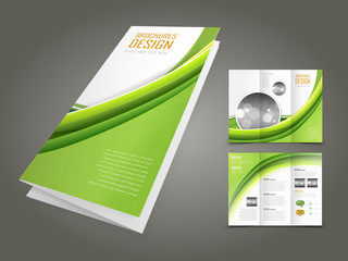 ecology concept background brochure design