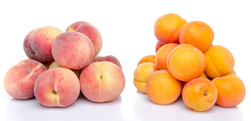 Heaps of peaches and apricots