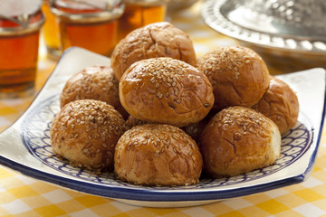 Moroccan sesame rolls