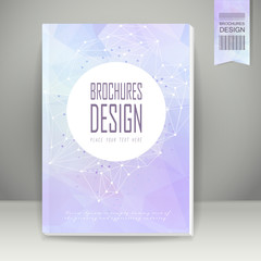 geometric style background brochure design