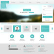 Modern website design template vector format