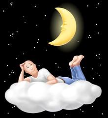sognatore sulla nuvola