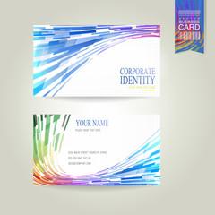 geometric streamlined business card