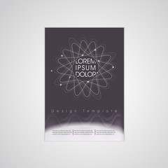 elegant flower shape background poster template
