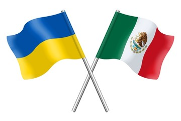 Flags: Ukraine and Mexico