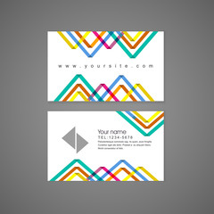 colorful triangle pattern background business card template