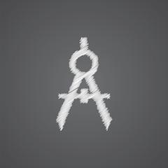 compasses sketch logo doodle icon.