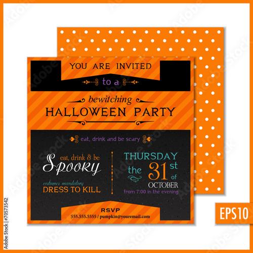 halloween party invitation black orange buy photos ap images