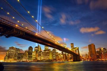 New York City Manhattan in memory of September 11