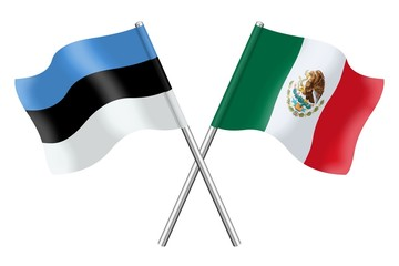 Flags: Estonia and Mexico