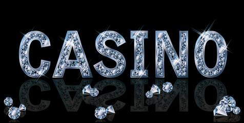 Diamond casino background, vector illustration