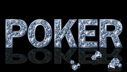 Brilliant poker background, vector illustration
