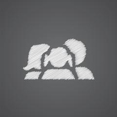 family sketch logo doodle icon.