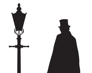 Jack The Ripper with a Street Lamp