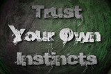 Trust Your Own Instincts Concept poster