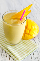 Healthy yoghurt mango smoothie