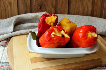Stuffed cabbage peppers, ready to eat.