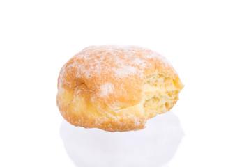Powdered Sugar Donut with Bite Missing I