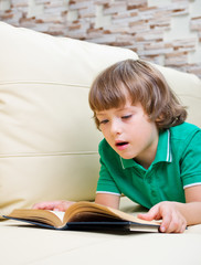 Little boy with book