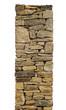 Freigestellte Natursteinmauer im Profil