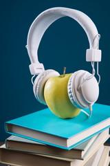 Break concept with headphones