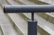 canvas print picture - Treppengeländer mit Rostschutzlack im Regen