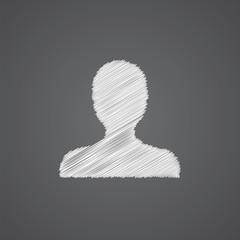 profile sketch logo doodle icon.
